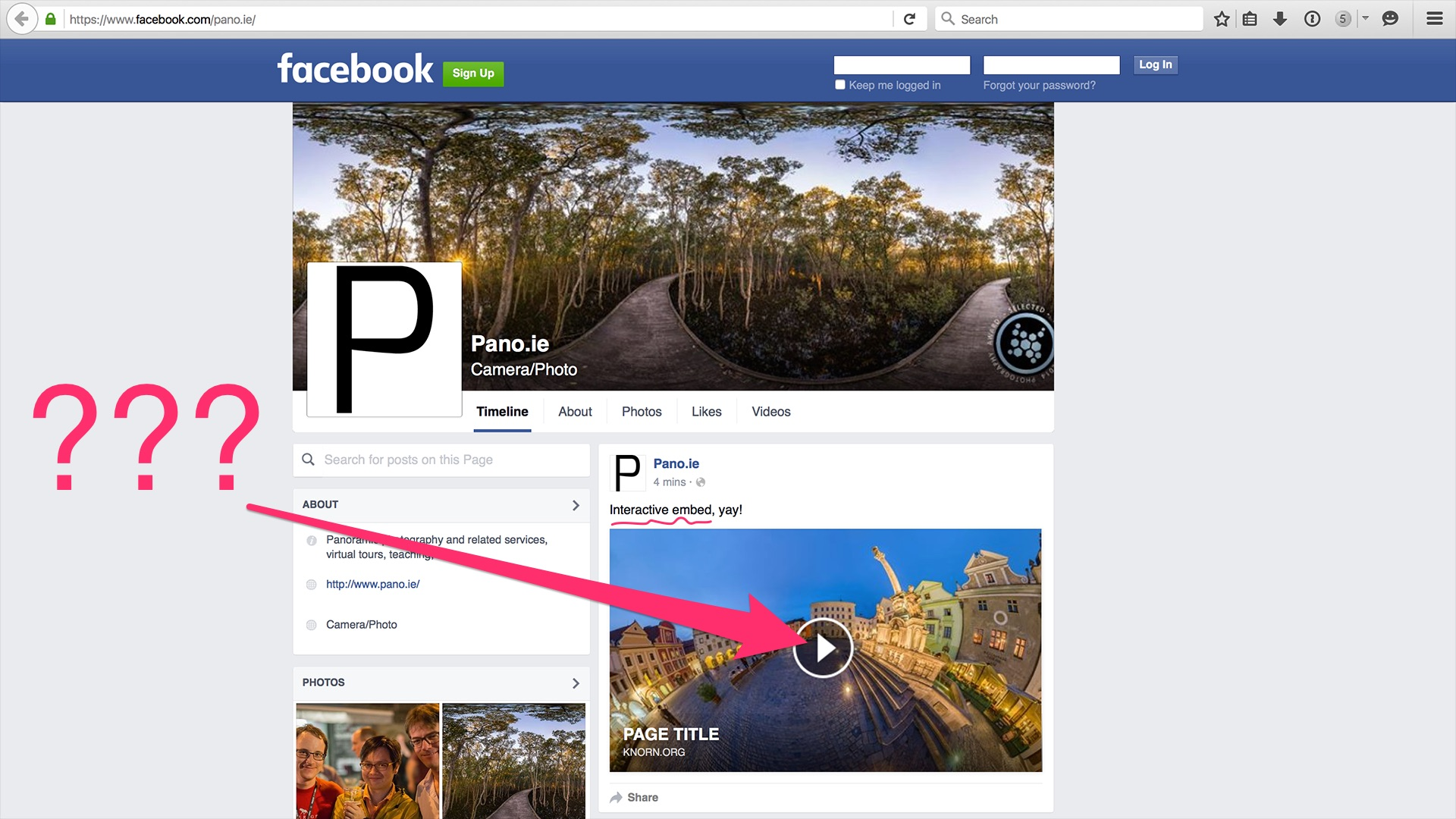 How to embed your panoramas in Facebook | pano-guru com