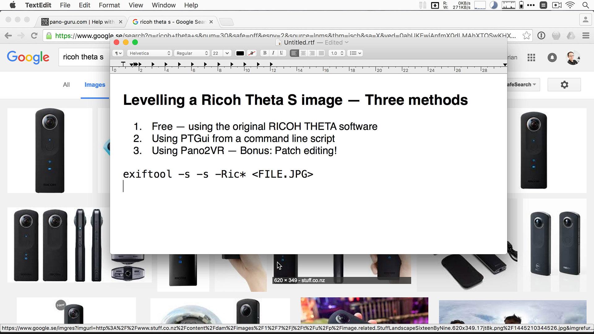 Levelling Ricoh Theta panos automatically | pano-guru com